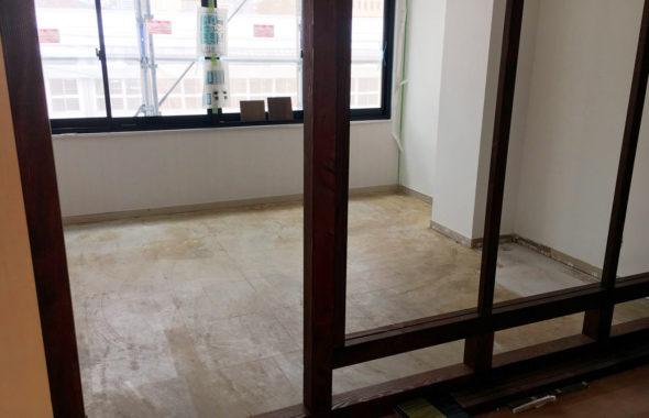 事務所移転に伴うOAフロア&タイルカーペットと内装工事